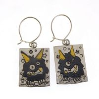 Little Black Monster earrings